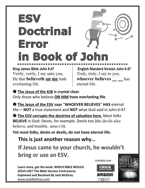 ESV Doctrinal Error in Book of John